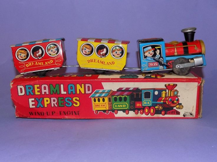 * VINTAGE * JAPANESE TINPLATE * CLOCKWORK * BOXED DREAMLAND EXPRESS * | eBay