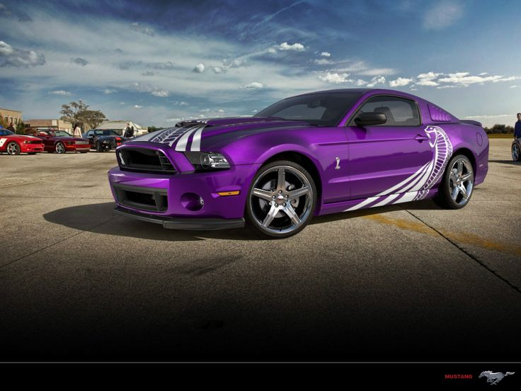 Purple mustang cobra // I don't usually like Mustangs - or Fords in general - but daayyyuuummm!