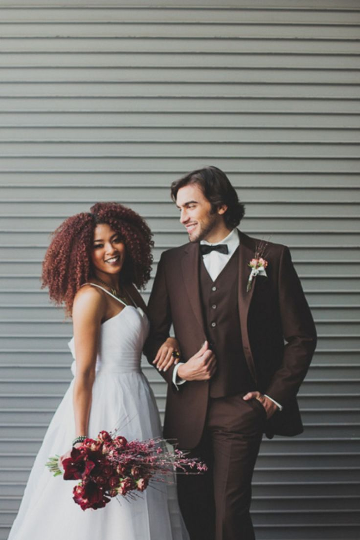 Modern Red Industrial Wedding Inspiration_0004 #naturalhairbride
