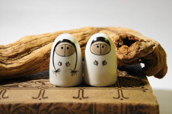 Arabia Finland Eskimo Salt and Pepper shakers.  $80.00