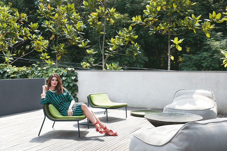 A casa da apresentadora Isabela Fiorentino é quase uma escultura a céu aberto