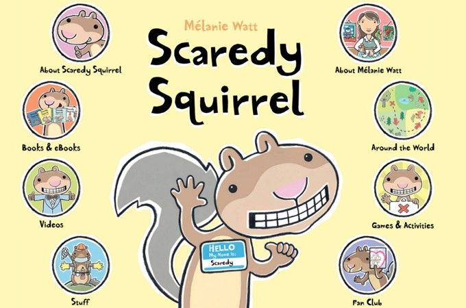 Scaredy Squirrel Lesson Plans! This hilarious book by Melanie Watt is featured in this week's plans. Reading, writing, crafts, STEM, and more! Fun activities for kindergarten and first grade. Reading comprehension and asking questions are part of these close reading lessons.