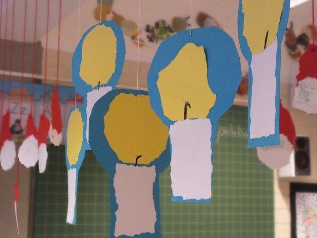 kynttilöitä repimällä paperista