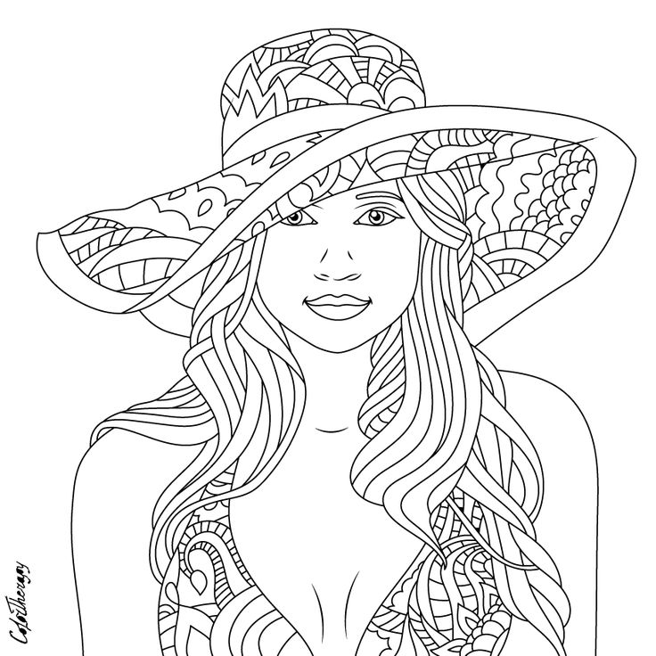 adult coloring pages for women | 881 best Beautiful Women Coloring Pages for Adults images ...