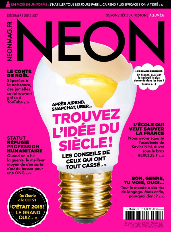 Magazine NEON n° 37 - Décembre 2015