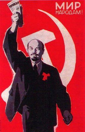 Peace to people Lenin