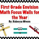 In this zip file you will find all of my focus walls for First Grade Envision Math.     To view each wall please visit my store.  The zip file incl...