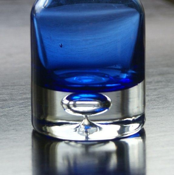 Hadeland- Blå vintage vase kunstglass