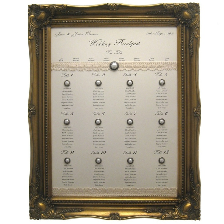 Sell one like this    STUNNING LARGE GOLD FRAME FOR WEDDING TABLE PLAN