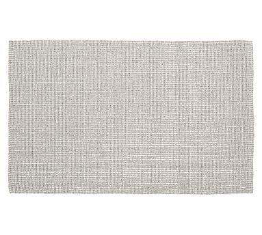 Chunky Wool Jute Rug, Gray/Ivory, 2.5 x 9'