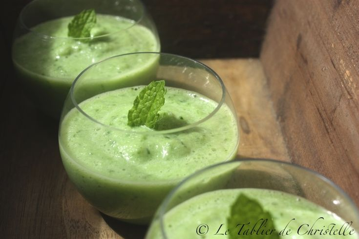 Gaspacho Concombre Menthe
