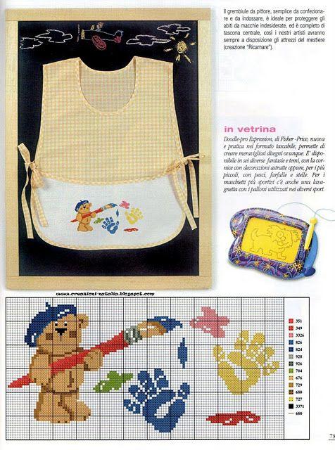empreintes d\'ours pinceaux - toutes-les-grilles.com grilles gratuites point de croix crochet tricot amigurumi