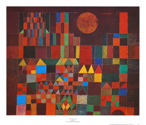 Castle and Sun by Paul Klee    -Repinned by Totetude.com