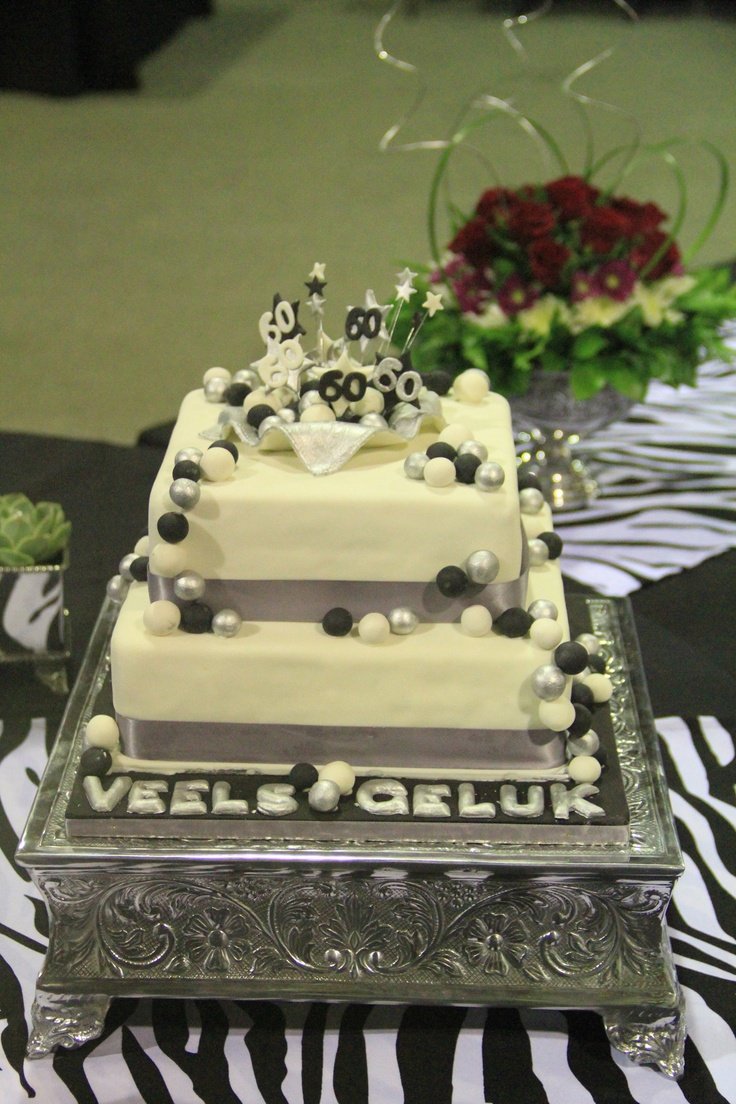 Black And White Cake Ideas For Th Birthday