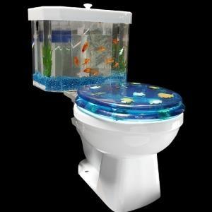 Profitez des fonds marins à chaque fois que vous irez aux toilettes avec ce réservoir aquarium pour chasse d'eau Fish'n Flush. Proposé par Aquaone.