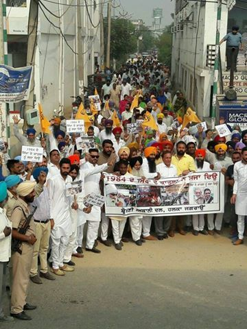 Entire Punjab witnessed protests against Congress for its active role in 1984 Sikh genocide. People burnt effigies of Sajjan Kumar, Jagdish Tytler, Sonia Gandhi and Captain Amarinder Singh in different parts of Punjab led by senior leaders SR Kaler MLA Jagraon, Darshan Singh kotfatta, Ravinder Singh Brahmpura and Avtar Singh Zira.  #AkaliDal #ProgressivePunjab #CongressAgainstSikhs #Shame #Punjab