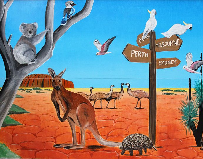 Outback Mural Google Search In 2019 Kangaroo Image