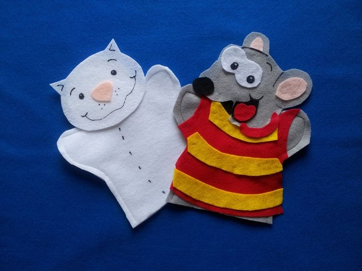 Toopy and Binoo felt puppets from puppetmaker by DaWanda.com