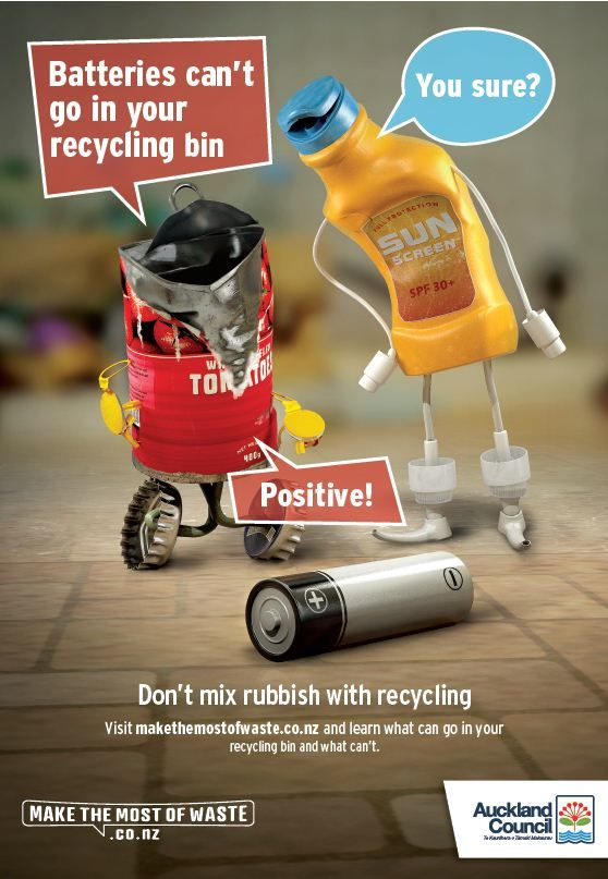 Don't put batteries in your recycling bin! Click to find out how to safely dispose of your used household batteries.