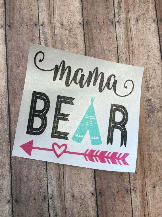 YETI Cup Decal   Mama Bear  APPROX. 3.5 by GraceKinleyDesigns