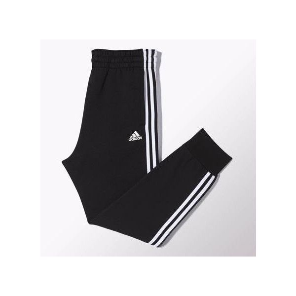 adidas Slim 3-Stripes Sweat Pants ($40) ❤ liked on Polyvore featuring activewear, activewear pants, black, slim sweatpants, slim sweat pants, fleece sweatpants, adidas and adidas sportswear