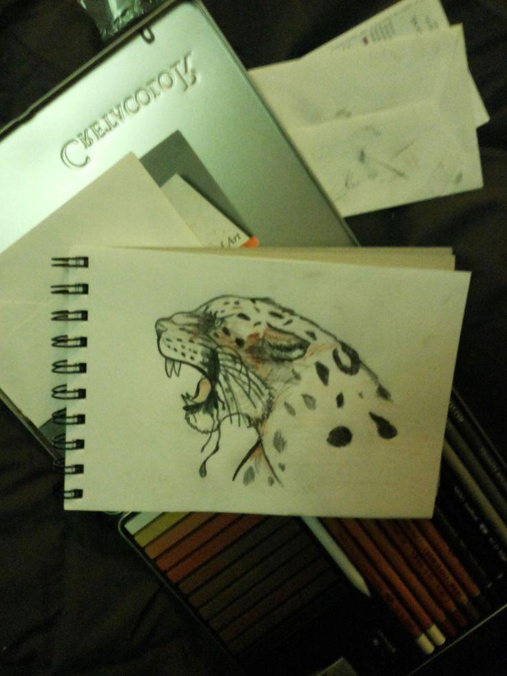 Jaguar a lápiz. #scout
