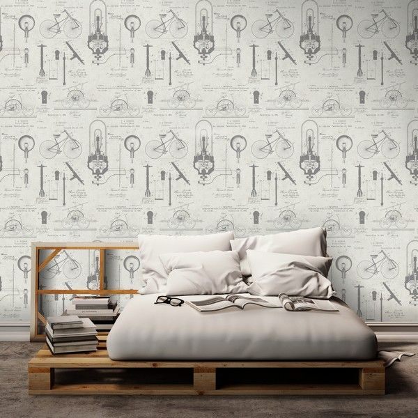 VINTAGE PATENTS Wallpaper from The Scientist Collection by MINDTHEGAP