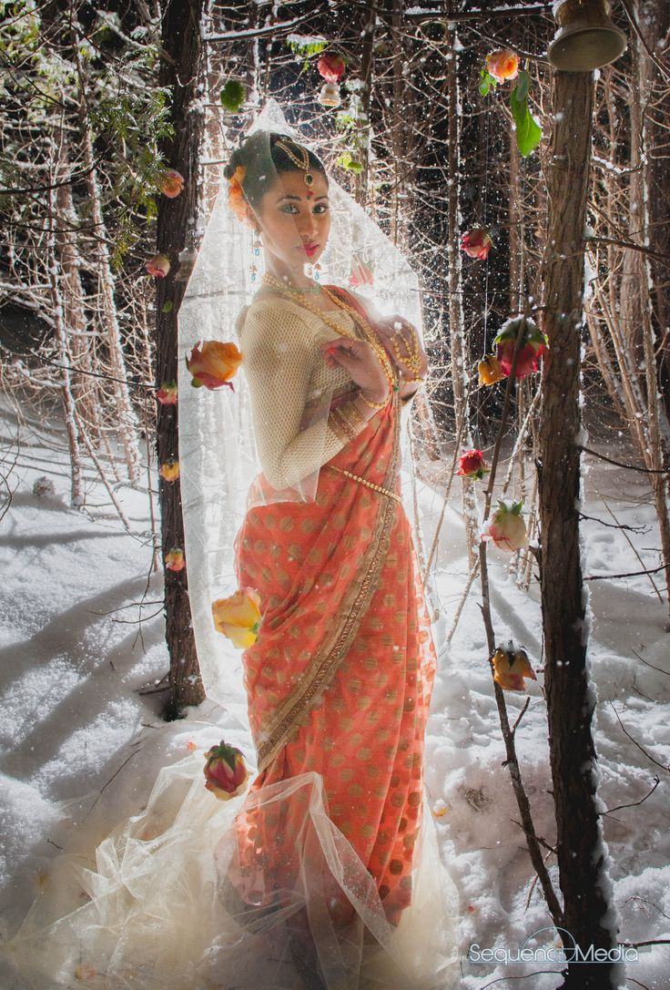 #SriLankan #Tamil #Hindu #Bride #Whimsical #Woodland #Winter shoot, On the Verge of #Spring, Concept, Styling, Floral by #PriPlan #PRI-PLAN #Wedding and #Events www.facebook.com/... photography by #SequenceMedia #jewelery #maya'sboutique #MUAH #ModernTraditions MUAH by #Kavitha