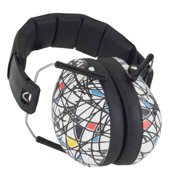 Baby Banz Protective Earmuffs in Patternz 'Squiggle' - oh, so popular for kids 2-10+ years! $49.99.