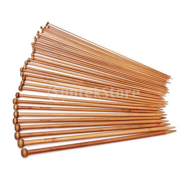 18 Размеры Обугленные Бамбуковые Одноместный Указал Спицы Вязальные Спицы