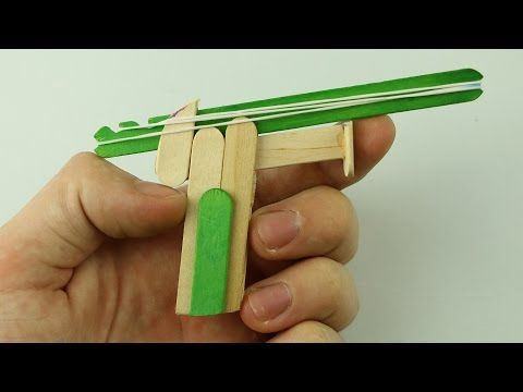 How to Make a Rubber Band Gun - Pocket Pistol - YouTube                                                                                                                                                                                 More