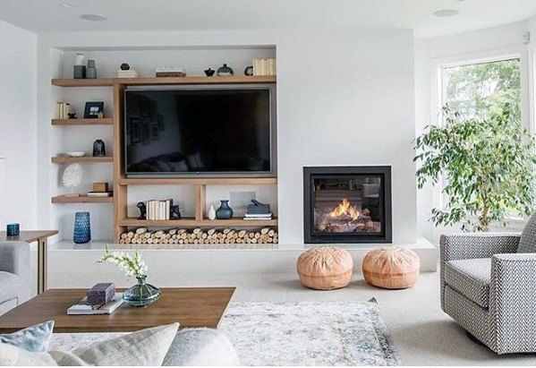 Top 70 Best Tv Wall Ideas Living Room Television Designs Living Room Tv Wall Living Room Tv Fireplace Tv Wall