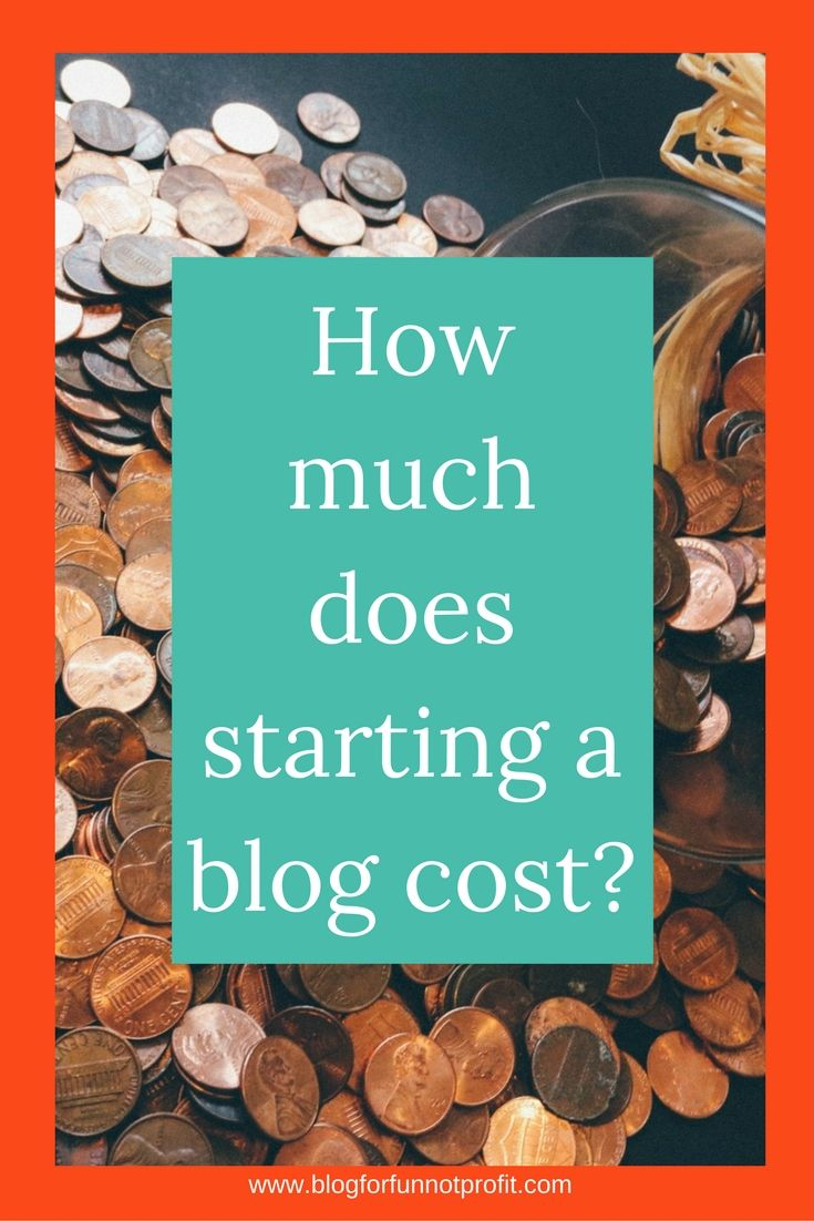 How Much Does Starting A Blog Cost? - Blog For Fun Not Profit