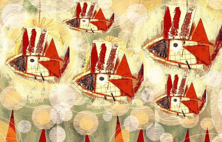Birds. Nika Jaworowska #art #ilustration #booksforchildren