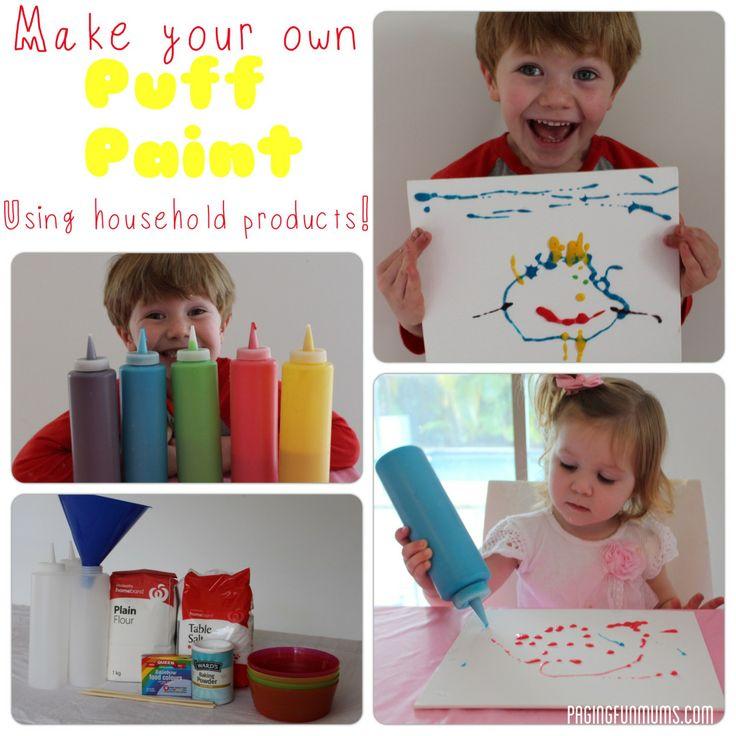 Homemade Puff Paint – Jenni