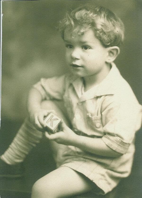 Hugh M. Hefner as a young boy in My Photos by Hugh Hefner