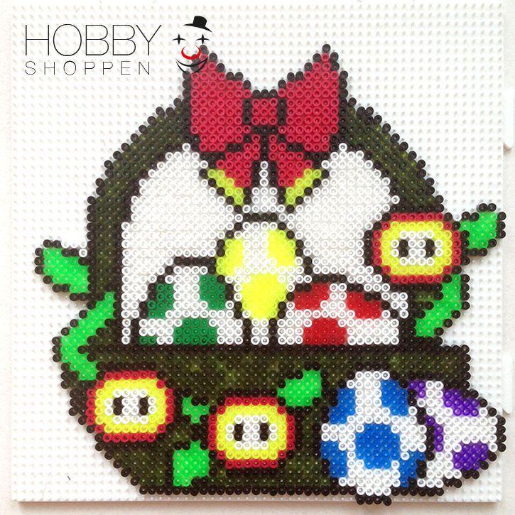 Yoshi Easter egg basket hama mini beads - Hobbyshoppen