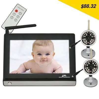 Check this product! Only on our shops 2.4GHz 7 inch LCD Wireless Video Baby Monitor and 2 Cameras with Remote Control P2 - US $88.32 http://cheaponlineshopping6.org/products/2-4ghz-7-inch-lcd-wireless-video-baby-monitor-and-2-cameras-with-remote-control-p2/