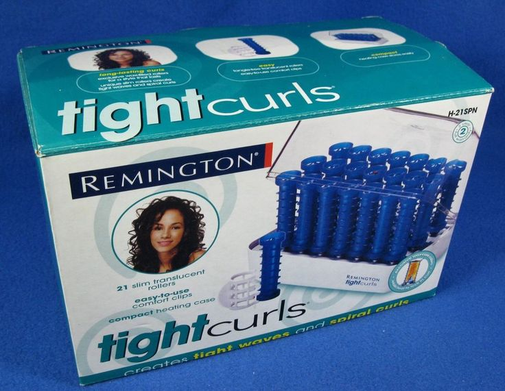 Remington Tight Curls Hot Rollers Curlers Wax Core Spiral Pageant H-21SPN NEW  #Remington