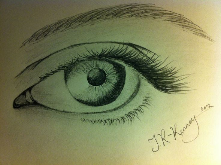 Can't for the life of me draw faces, but quite pleased with this eye :)
