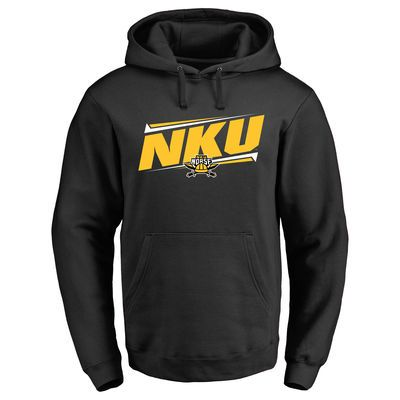 Northern Kentucky University Norse Double Bar Pullover Hoodie - Black