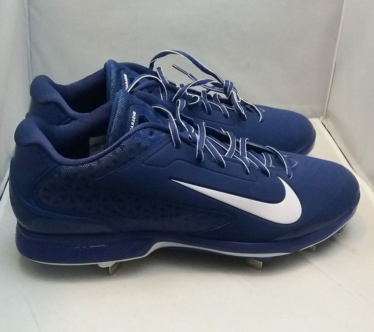 New Nike 599233-411 Men's Air Huarache Low Molded Baseball Cleats Size 13.5 Blue #Nike