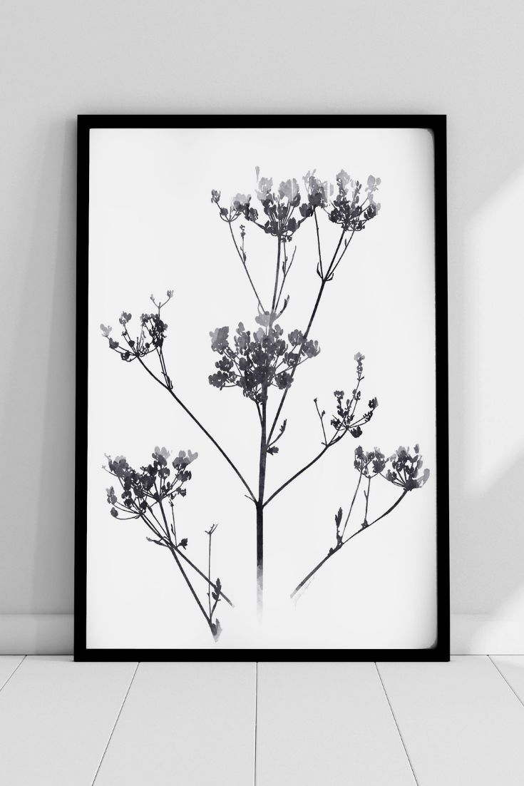 Black And White Art Printable Nature Watercolor Painting Etsy In 2020 Watercolor Paintings Nature Nature Watercolor Etsy Wall Art