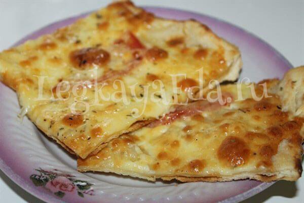 Пицца на тонком тесте. Тесто для пиццы как в пиццерии рецепт