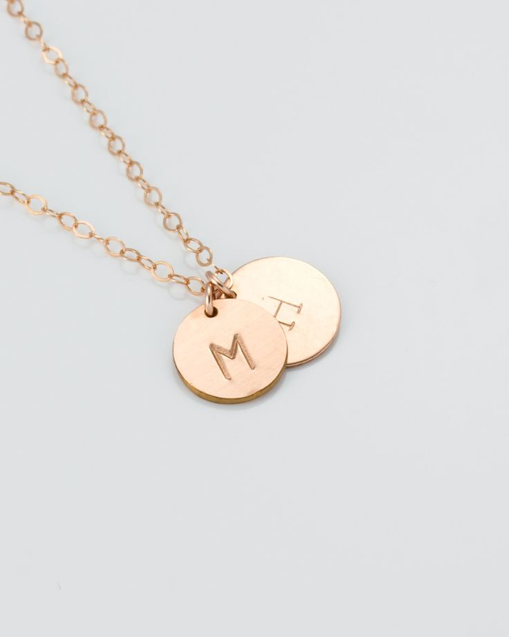 Rose Gold Personalized Necklace - Personalized Necklace for mom - Custom Letter Necklace - Girlfriend Gift