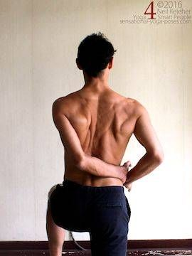 Arm overhead shoulder stretch, neil keleher, sensational yoga poses.
