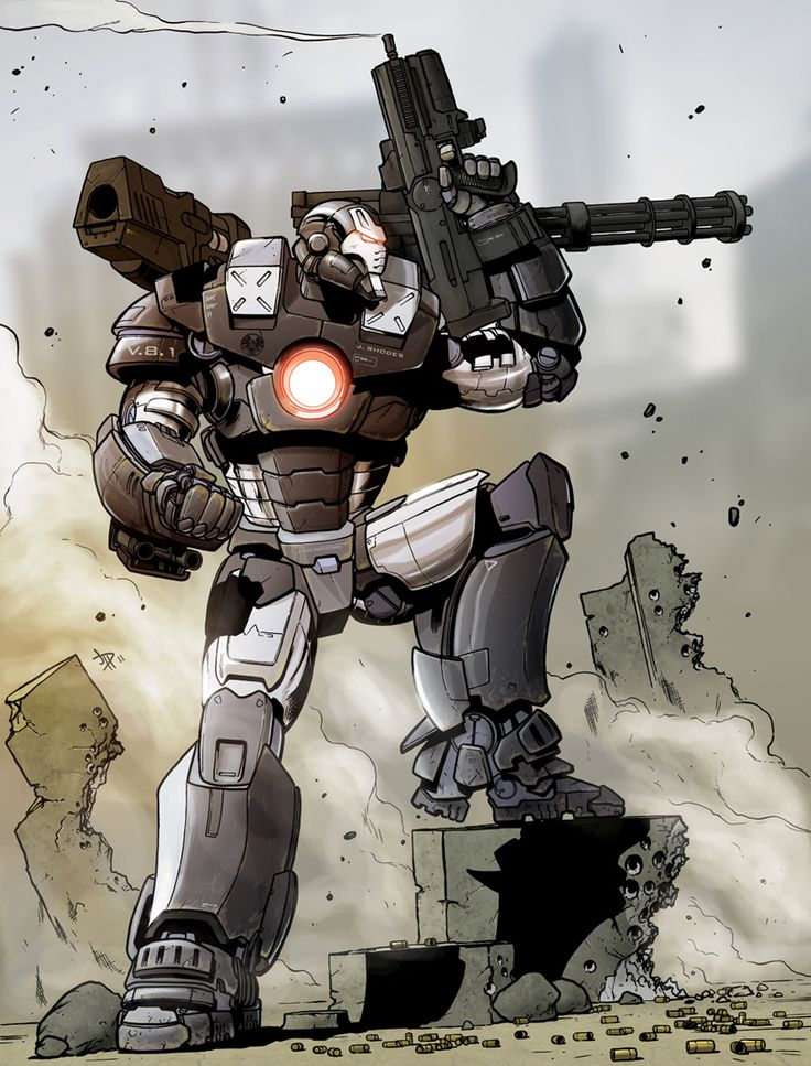 Awesome War Machine pinup by Jon Davis. What do you think?