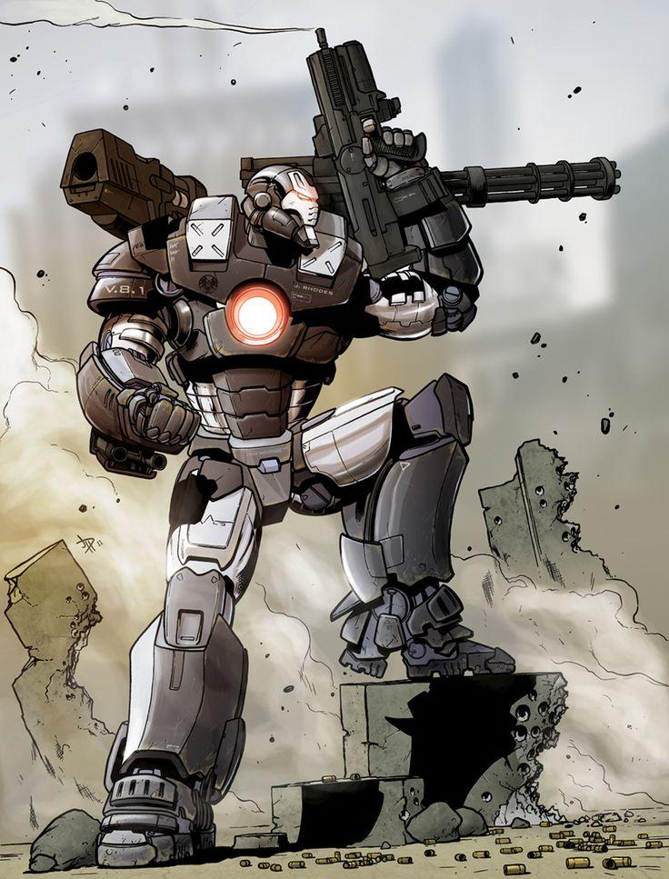 War Machine Pin-up - Jon Davis-Hunt