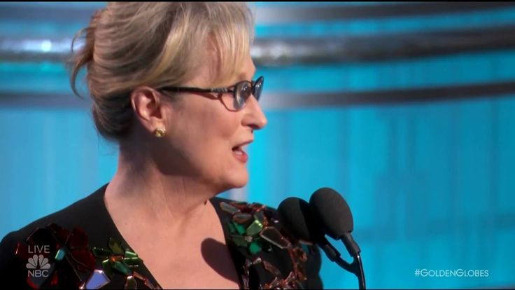 Meryl Streep Slams Donald Trump in Golden Globes 2017 Speech - FINALLY, I found the full speech.  Gorgeously done.  I left a very lengthy comment as you will not believe the hateful rhetoric in the comments area.  Shame on those folks!