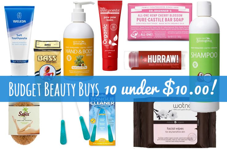 Organic = expensive, right? Wrong! I've got some great organic budget beauty buys at Hello Charlie, and this week I've picked my top 10 under $10.00!